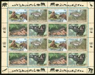 UNNY 773-6  33c Endangered Species, sheet of 16* Mint NH ny773sh