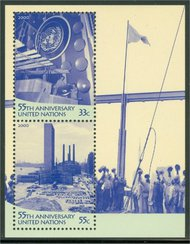 UNNY 781   UN 55th Anniv, Souvenir Sheet ny781
