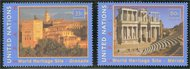 UNNY 784-5  33c,60c Heritage Spain Mint NH Inscription Blocks ny784-5mi