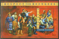 UNNY 788   $1.Refugees Souvenir Sheet Mint NH ny788