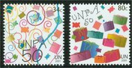 UNNY 809-10  34c, 80c UNPA 50th Mint NH ny809