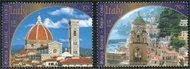 UNNY 832-3  37c, 70c Heritage Italy Insc. Block ny832mo