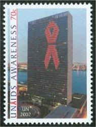UNNY 835   70c AIDS Awareness Insc. Block Mint NH ny835mi