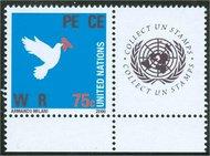 UNNY 912 75c Peace full sheet ny912sh