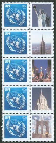 UNNY 939 90c Pesonalized Stamp single with random tab ny929sgl