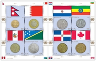 UNNY 1039 .45c Coin & Flag Sheet nh1039ss