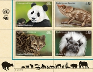 UNNY 1042-5 .45c Endangered Species block of 4 Mint NH ny1042blk