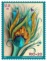 UNNY 1048 $1.05 RIO + 20 Inscription Block of 4 ny1048ns