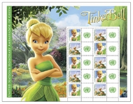 UNNY 1046-7s $1.05 Tinkerbell Personalized Sheet of 10 1046s
