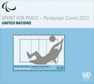 UNNY 1050a $1.05 Paralympics Souvenir Sheet ny1050ass