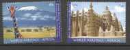 UNNY 1051-2 .45, $1.05 Heritage Africa inscription Blocks of 4 ny1051ins