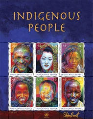 UNNY 1053 45 Indigenous People Souvenir Sheet ny1053