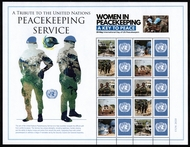 UNNY 1238-42 $1.20  U.N. Peacekeepers Personalized Sheet of 10 unny1238sh