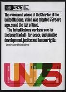 UNNY 1256 $2.40 UN 75th Anniversary Souvenir Sheet unny1256sh