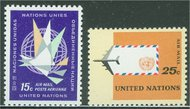 UNNY C11-2 15c-25c Airmails UN New York Mint NH nyc11