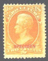 O  2s 2c Agriculture Official Stamp NGAI Specimen AVG-F o2savg