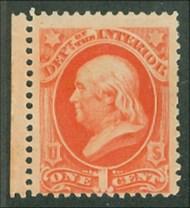 O 15 1c Interior Official Stamp AVG-F Unused o15ogavg