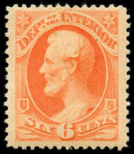 O 18 6c Interior Official Stamp F-VF Unused 018pg