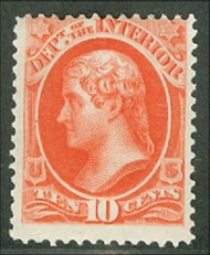 O 19 10c Interior Official Stamp F-VF Unused o19og