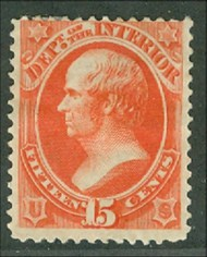 O 21 15c Interior Official Stamp Used Minor defects o21usedmd