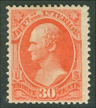 O 23 30c Interior Official Stamp Used Minor Defects o23usedmd