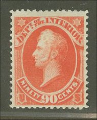 O 24 90c Interior Official Stamp Used Minor Defects o24usedmd