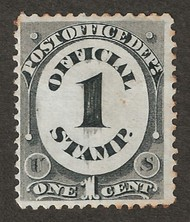 O 47 1c Post Office Official Stamp AVG-F Unused o47ogavg