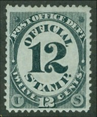O 52 12c Post Office Official Stamp Unused Minor Defects o52ogmd