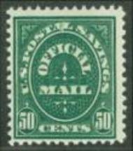 O122 50c Postal Savings AVG-F Used 0122uavg