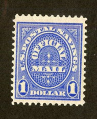 O123 $1 Postal Savings F-VF Unused o123og