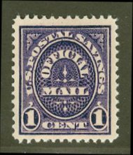 O124 1c Postal Savings F-VF Unused o124og