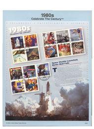 3190     33c 1980s Celebrate the Century MS15 USPS Souvenir  00-02