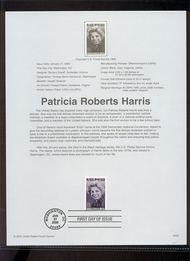 3371     33c Patricia Roberts Harris USPS Souvenir Page 00-04