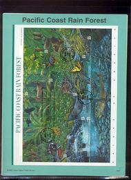 3378 33c Pacific Coast Rain Forest USPS 0007 Souv Page 00-07