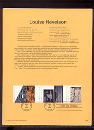 3383a    33c Louise Nevelson S5 USPS Souvenir Page 00-08