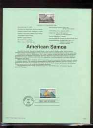 3389     33c American Samoa USPS Souvenir Page 00-11