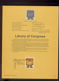 3390     33c Library of Congress USPS Souvenir Page 00-12