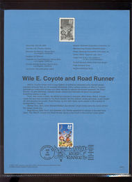 3391a    33c Wile E. Coyote & Road Runner USPS Souvenir Page 00-13