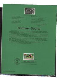 3397     33c Summer Sports USPS Souvenir Page 00-15