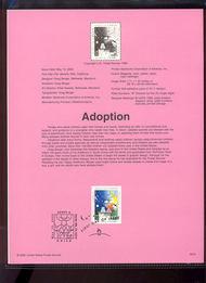 3398     33c Adoption USPS Souvenir Page 00-16