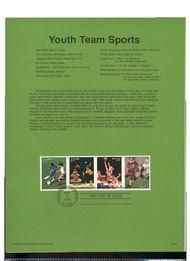 3399-3402  33c Youth Team Sports B4 USPS Souvenir Page 00-17