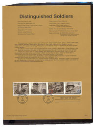 3393-96   33c Distinguished Soldiers S4 USPS Souvenir Page 00-18