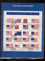 3403     33c Stars and Strips MS20 USPS Souvenir Page 00-19