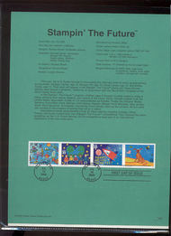 3414-17   33c Stampin' the Future S4 USPS Souvenir Page 00-21