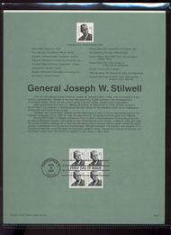 3420     10c General Joseph W. Stilwell USPS Souvenir Page 00-22