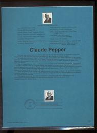 3426     33c Congressman Claude Pepper USPS Souvenir Page 00-23