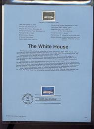 3445     33c The White House USPS Souvenir Page 00-28