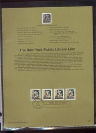 3447     10c New York Public Library Lion Coil USPS Souvenir 00-29