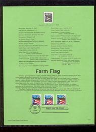 3448-50   (34c) Farm Flag 3 Varieties USPS Souvenir Page 1-Jan