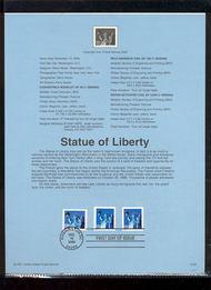 3451-53   (34c) Statue of Liberty Varieties USPS Souvenir Pag 2-Jan